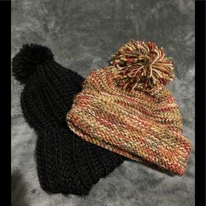 Accessories - Pompom toque hats 2/1 price preloved